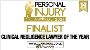 Devonshires Claims Clinical Negligence Lawyer Finalist 2021